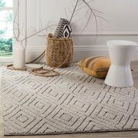 Safavieh Handmade Natura Southwestern Silver Wool / Cotton Rug - 4' x 6'