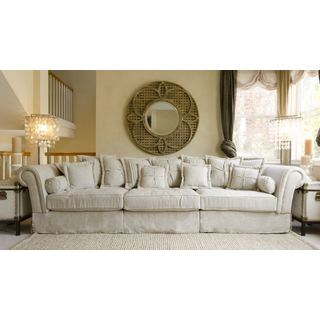 Elements Fine Home Furnishings Beige Fabric Sectional Sofa