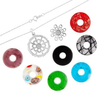 Sterling Silver Interchangeable Disc Necklace