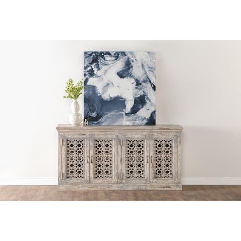 Hepburn Antiqued White 4-Door Sideboard by Kosas Home