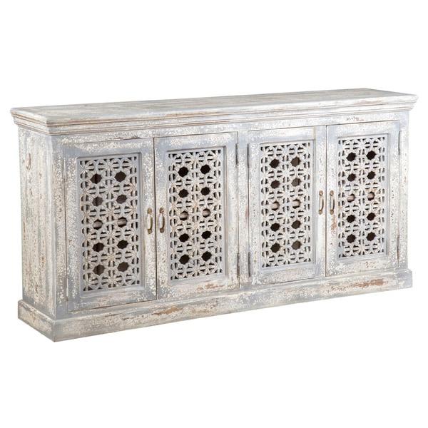 Hepburn Antiqued White Wood 69-inch Sideboard by Kosas Home - Hepburn Antiqued White Wood 69-inch Sideboard By Kosas Home - Free
