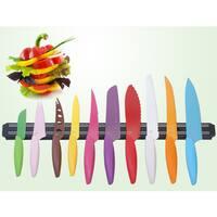 10-piece Multi-color Gela Global Kitchen Knife Set