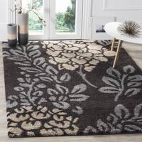 Safavieh Ultimate Shag Dark Brown/ Slate Grey Floral Area Rug - 3' 3 x 5' 3