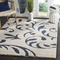 "Safavieh Florida Shag Ultimate Cream/ Blue Rug - 3'3"" x 5'3"""