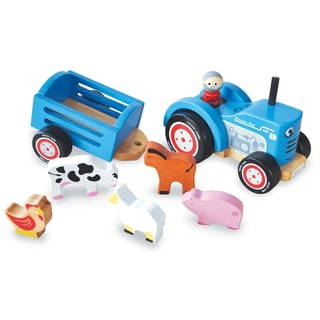 Indigo Jamm Blue Wood Tractor Tim Play Set