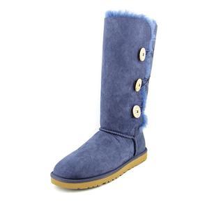 Ugg Australia Women's 'Bailey Button Triplet' Blue Suede Boots