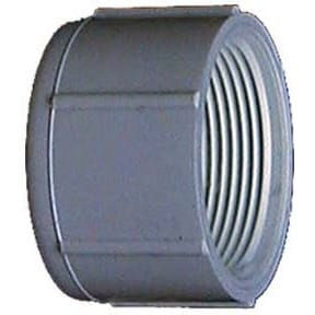 Genova Products 30169 1.25-inch PVC Sch. 40 Threaded Caps (Pvc Cap 1-1/4 Fip)