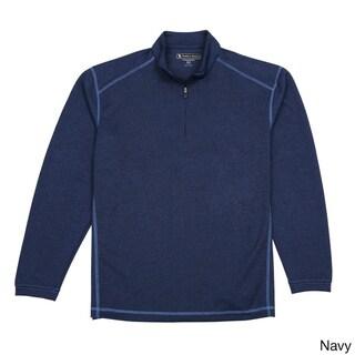 Pebble Beach Men's Performance Tech 1/4-zip Long Sleeve Golf Pullover Shirt