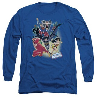 JLA/Unlimited Long Sleeve Adult T-Shirt 18/1 in Royal