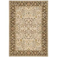 Safavieh Hand-hooked Total Performance Ivory / Taupe Acrylic Rug - 4' x 6'