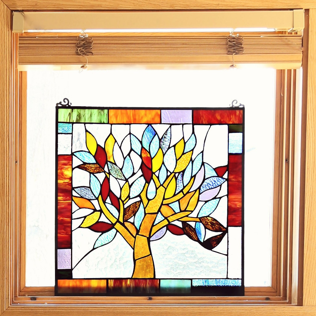 River Of Goods Tiffany Style Mystical World Tree Stained ...