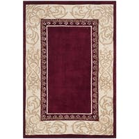 Safavieh Hand-hooked Total Performance Burgundy Ivory Acrylic Rug - 4' x 6'