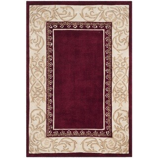 Safavieh Hand-hooked Total Performance Burgundy Ivory Acrylic Rug (4' x 6')