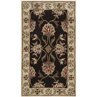 Safavieh Hand-hooked Total Performance Brown / Ivory Acrylic Rug - 3' x 5'