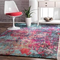 The Curated Nomad Stella Abstract Painting Multicolor Rug (4'1 x 6')