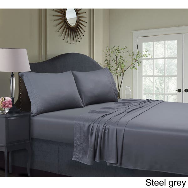 Super Soft Bamboo Extra Deep Pocket 6 Piece w// Flat and Fitted Bed Sheet Set
