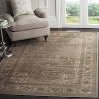 Safavieh Vintage Oriental Mouse Brown Distressed Silky Viscose Rug - 3' x 5'