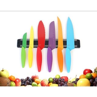 6-piece Multi-color Gela Global Kitchen Knife Set