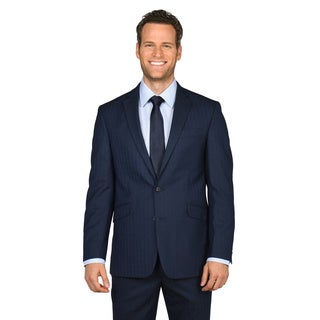 Kenneth Cole Reaction Men's Modern Blue Windowpane Suit Separates Coat