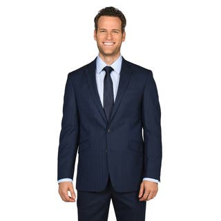 Kenneth Cole Reaction Men's Modern Blue Windowpane Suit Separates Coat|https://ak1.ostkcdn.com/images/products/12673435/P19459593.jpg?impolicy=medium