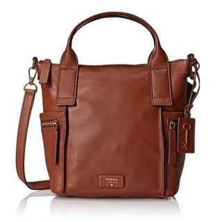 Fossil Emerson Medium Satchel Bag - Brown