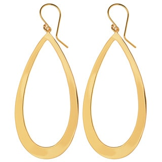 Trendy Ladies' Yellow Brass Oval Hoop Earrings