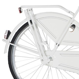 Hollandia White Rear Rack and Kickstand