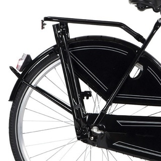 Hollandia Black Rear Rack and Kickstand