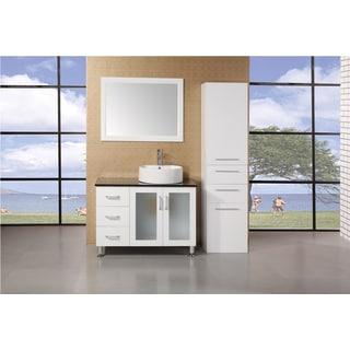 Malibu White Wood 66-inch Linen cabinet