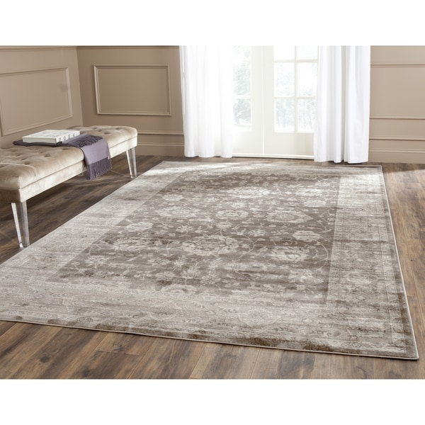 Safavieh Vintage Oriental Brown/ Ivory Distressed Rug (3' x 5')
