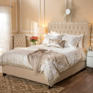 Elia Upholstered Fabric King Bed Set by Christopher Knight Home