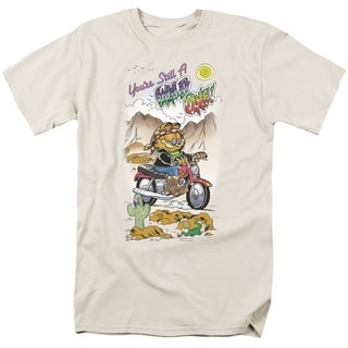 Garfield/Wild One Short Sleeve Adult T-Shirt 18/1 in Cream