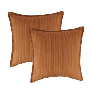Austin Horn Classics Sunbrella Dupione Nectarine 20-inch Outdoor Throw Pillow (set of 2)