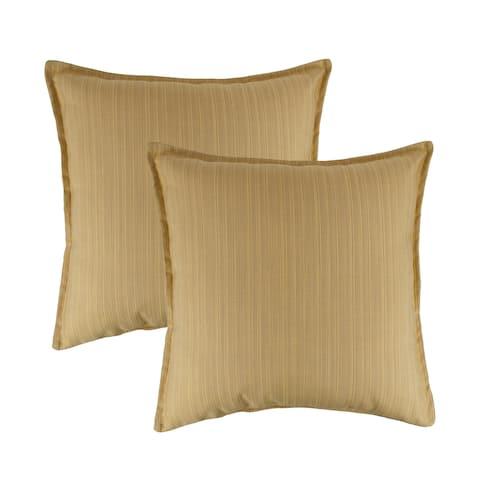 Austin Horn Classics Sunbrella Dupione Cornsilk 20-inch Outdoor Throw Pillow (set of 2)