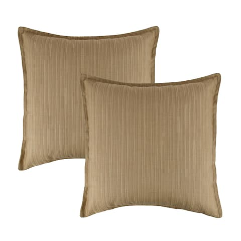 Austin Horn Classics Sunbrella Dupione Bamboo 20-inch Outdoor Throw Pillow (set of 2)