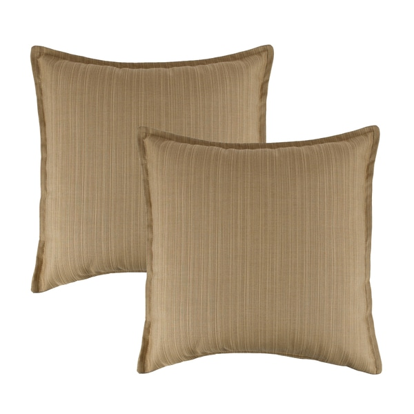 Austin Horn Classics Sunbrella Dupione Bamboo 20-inch Outdoor Throw Pillow (set of 2)
