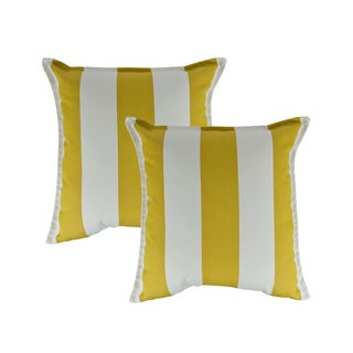 Austin Horn Classics Sunbrella Cabana Citron 20-inch Outdoor Throw Pillow (set of 2)