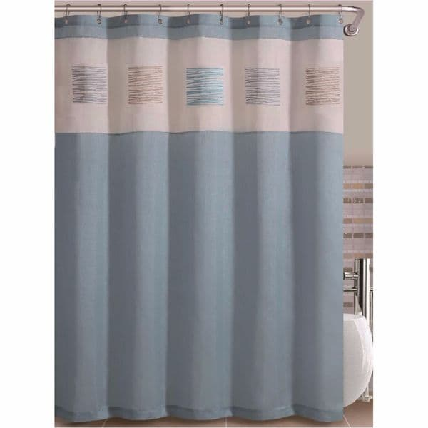 Bali by Artistic Linen Easy To Hang 12 Eyelet Embroidered Polyester Shower Curtain