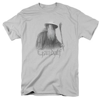 LOTR/Gandalf The Grey Short Sleeve Adult T-Shirt 18/1 in Silver