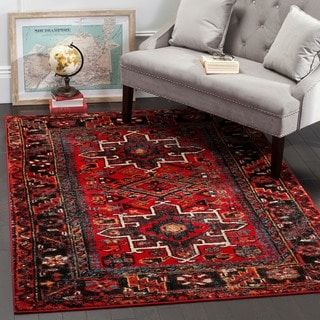 Safavieh Vintage Hamadan Red / Multicolored Rug (4' x 6') - Thumbnail 0