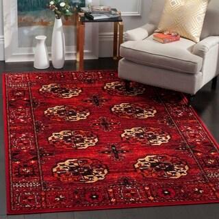 Safavieh Vintage Hamadan Traditional Red/ Multi Area Rug (4' x 6')