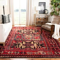 Safavieh Vintage Hamadan Traditional Red/ Multicolored Distressed Rug (3' x 5')