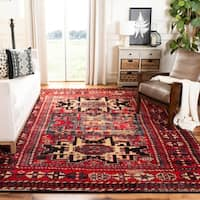 Safavieh Vintage Hamadan Traditional Red/ Multicolored Distressed Rug - 3' x 5'
