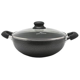 Black Aluminum 4.5-quart Non-stick Casserole Pan