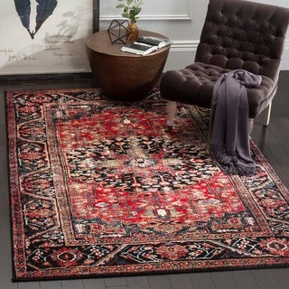 Safavieh Vintage Hamadan Traditional Red/ Multi Distressed Area Rug (3' x 5')