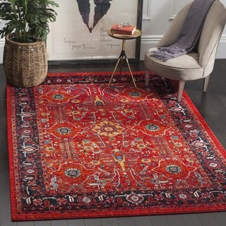 Safavieh Vintage Hamadan Orange / Navy Rug (3' x 5')