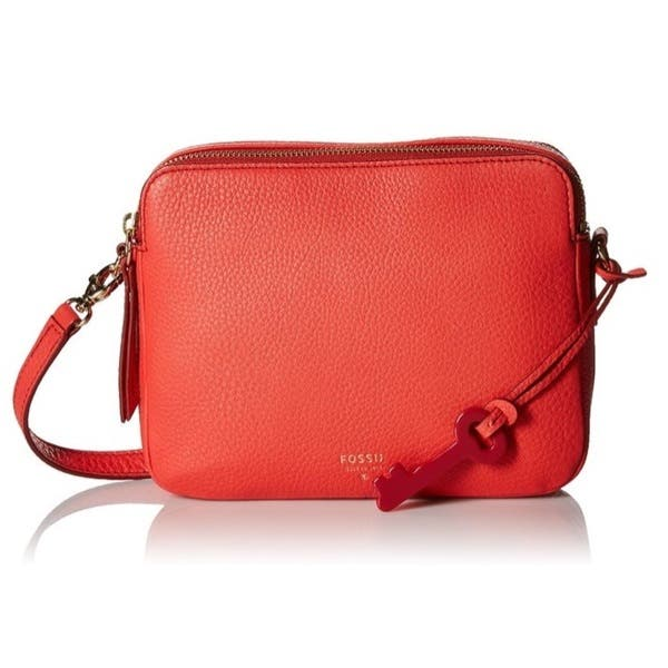Shop Fossil Sydney Double Zip Crossbody Bag - Free Shipping Today ... 910aa46723126