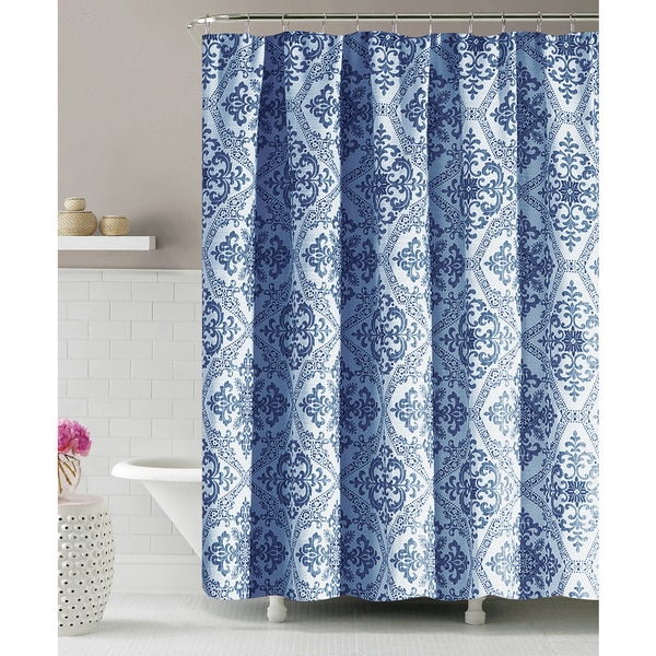 Lakata by Artisitc Linen Easy To Hang Rainfall Collection Polyester Shower Curtain