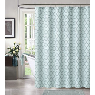 Links by Artisitc Linen Easy To Hang Polyester Shower Curtain