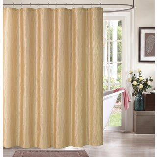 Maple by Artisitc Linen Easy To Hang With Metallic Accents Polyester Shower Curtain